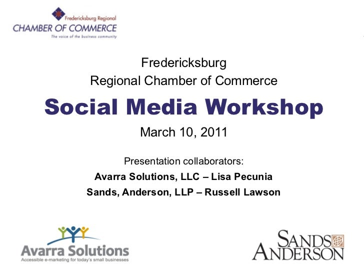 FRCC Social Media                 Workshop               Fredericksburg       Regional Chamber of Commerce    Social Media...