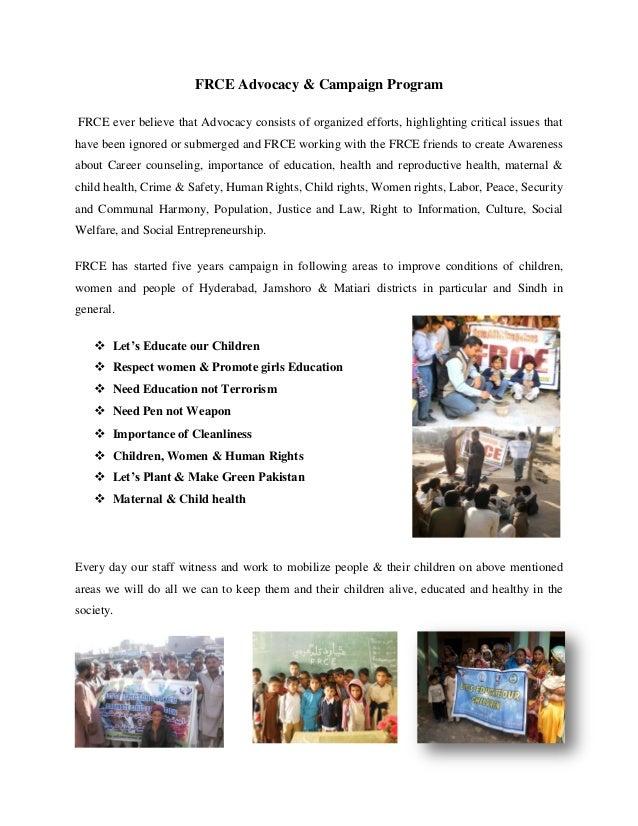 Frce advocacy & campaign program