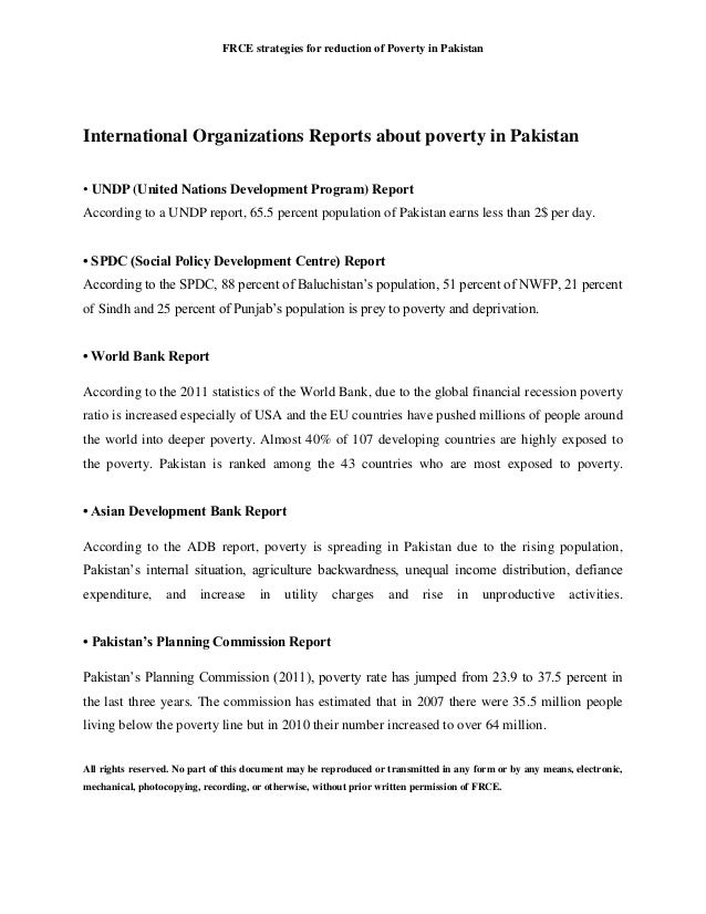 strategies to reduce poverty in pakistan 2018
