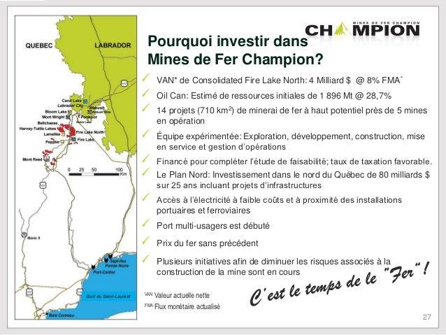 CHAMPION IRON MINES - OTC:CPMNF - Stock Quote & News ...