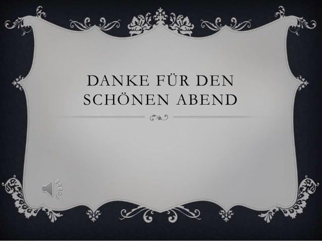 DANKE FÜR DEN SCHÖNEN ABEND