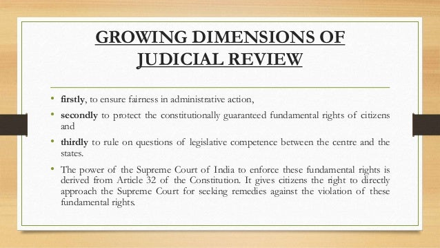 judicial review and indian courts
