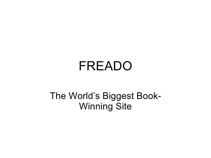 FREADO The World's Biggest  Book-Winning Site
