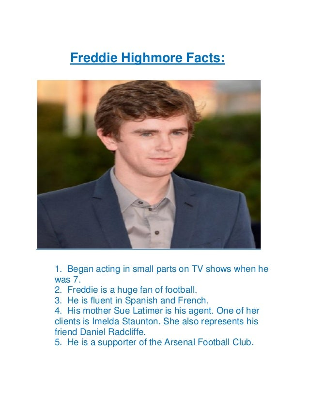 Freddie highmore biography for Freddie highmore movies and tv shows