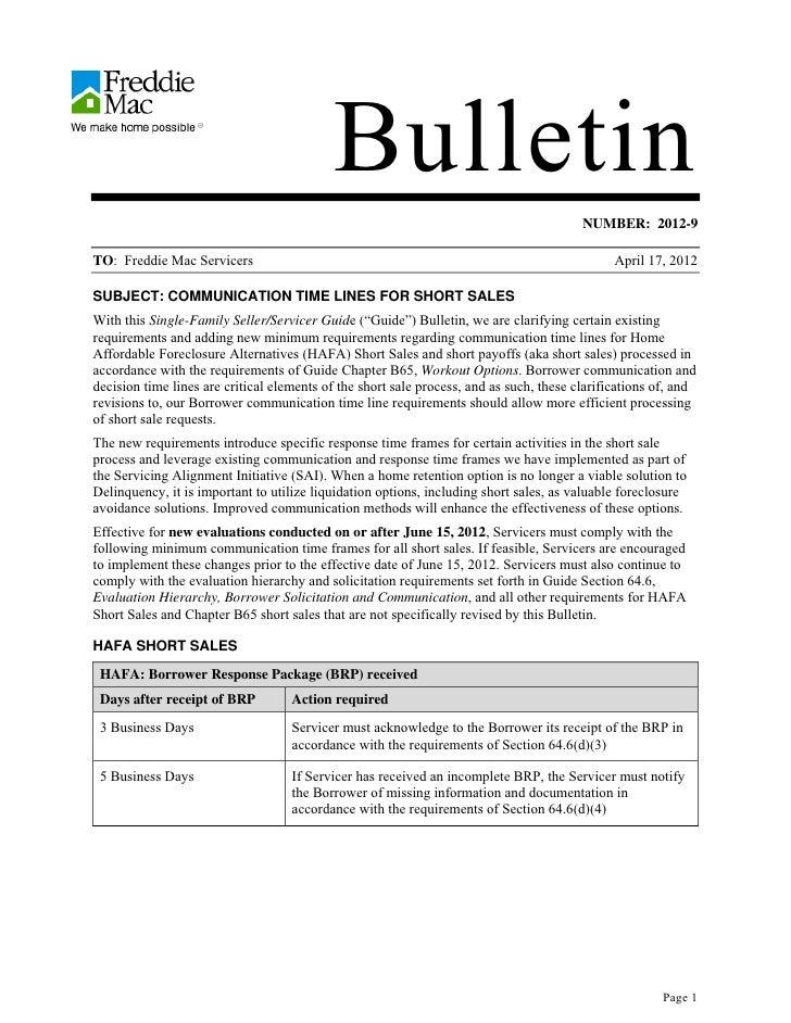 Bulletin                                                                                         NUMBER: 2012-9TO: Freddie...