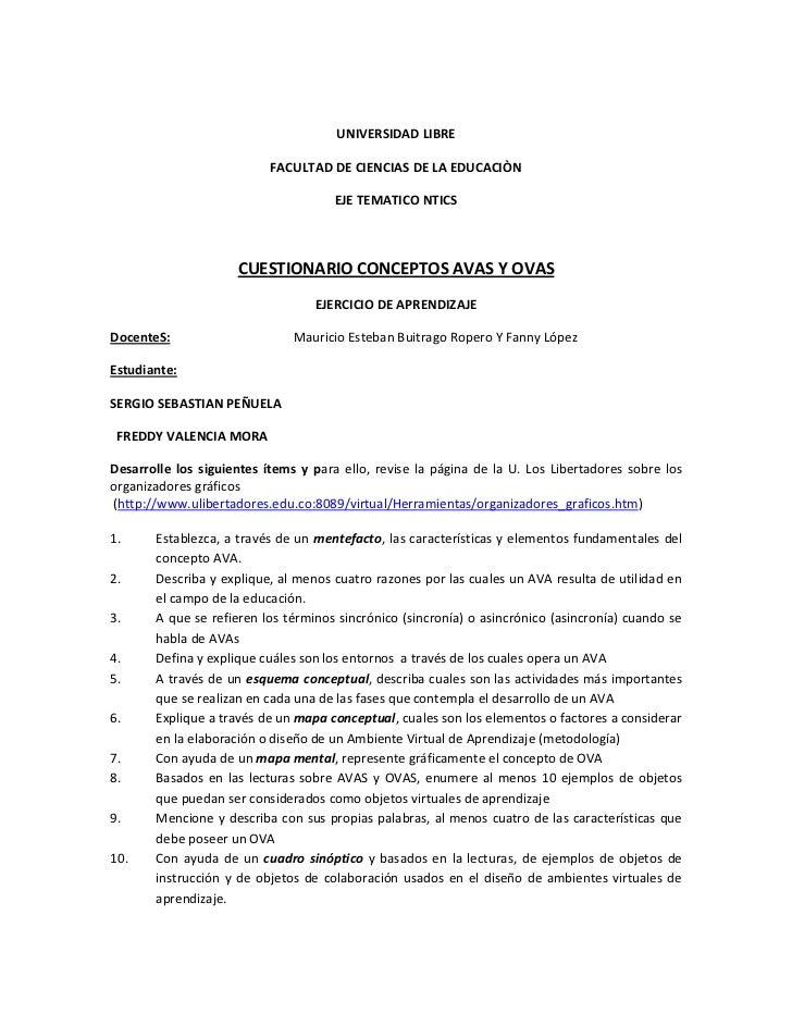 UNIVERSIDAD LIBRE                           FACULTAD DE CIENCIAS DE LA EDUCACIÒN                                      EJE ...