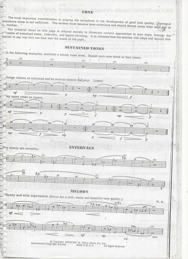 Frederick jacobs learn to play sax book 2