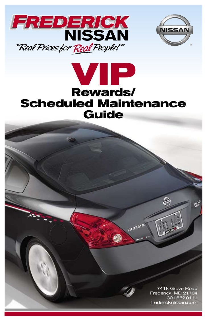 VIP      Rewards/Scheduled Maintenance        Guide                   7418 Grove Road                Frederick, MD 21704  ...