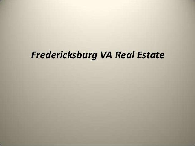 Fredericksburg VA Real Estate