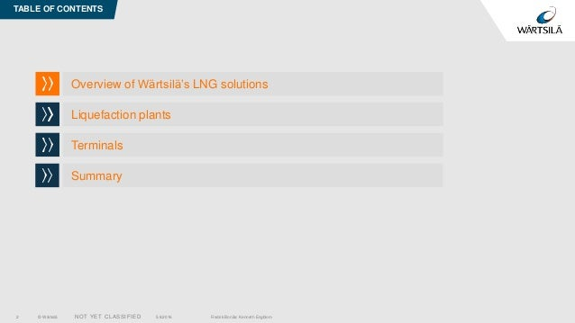 Wärtsilä LNG Solutions Slide 2