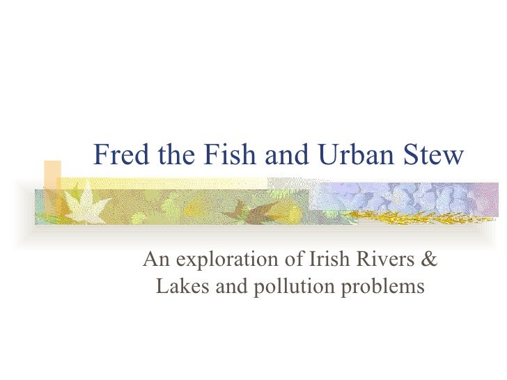 Fred the fish and urban stew killarney for Fred the fish