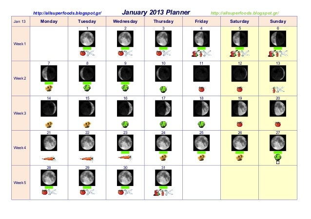 http://allsuperfoods.blogspot.gr/      January 2013 Planner            http://allsuperfoods.blogspot.gr/Jan 13      Monday...