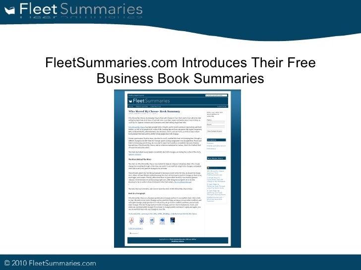 FleetSummaries.com Introduces Their Free Business Book Summaries