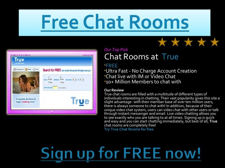 Free dating chat rooms no registration