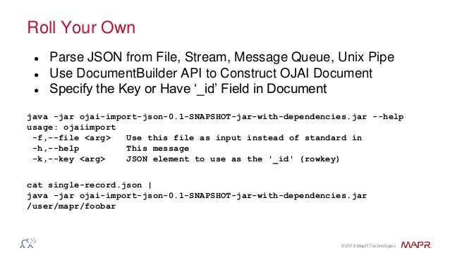 Import Large JSON Data Sets with OJAI