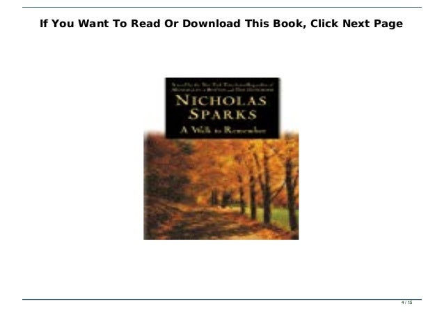 a walk to remember full book online free
