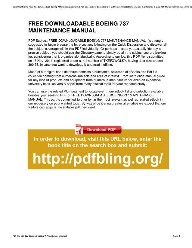 free downloadable boeing 737 maintenance manual rh slideshare net Housekeeping Building Guide Subaru Scheduled Maintenance Guide