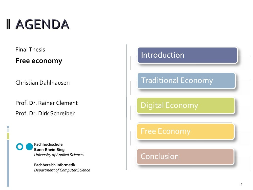 Agenda Ul Li Final Thesis Li Ul Ul Li Free Economy