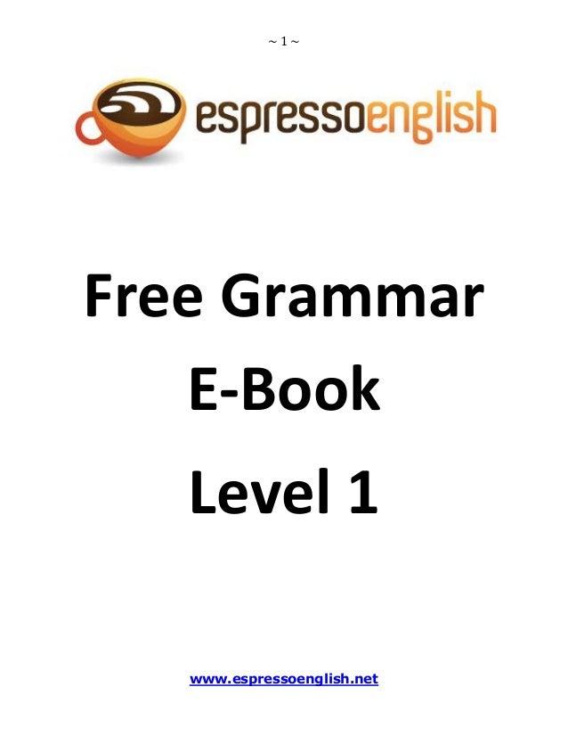 free english grammar book level 1 pdf