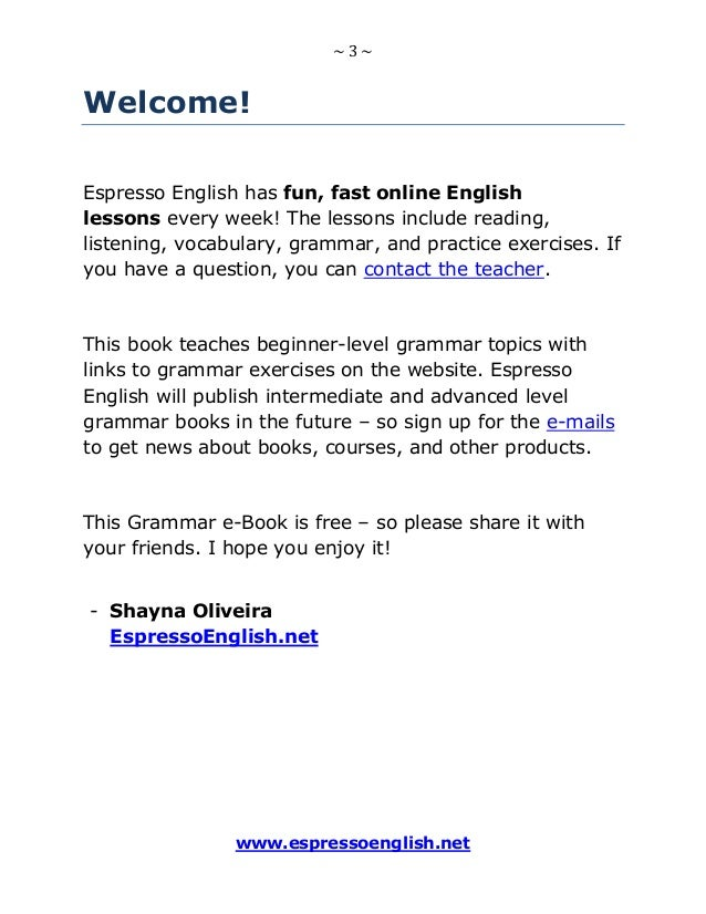 Free english-grammar-e book-beginner