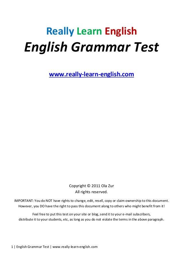 Learn English Grammar Pdf