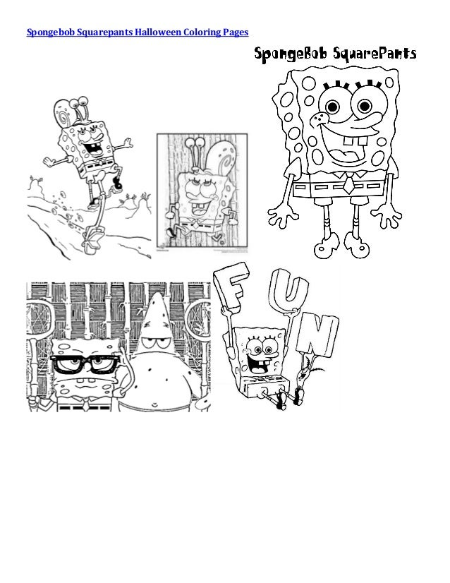 winnie the pooh halloween coloring pages 5 spongebob squarepants