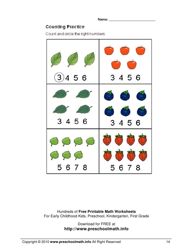 Printables Preschool Math Worksheets Free Gozoneguide Thousands – Free Downloadable Math Worksheets