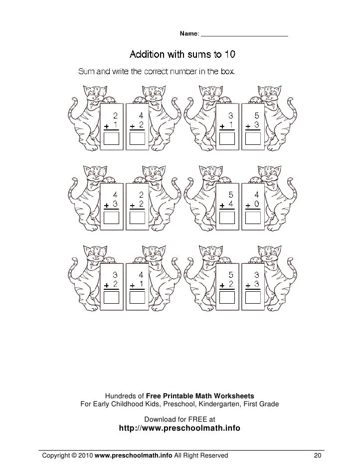 ... 20. Hundreds of Free Printable Math Worksheets For Early Childhood Kids ...