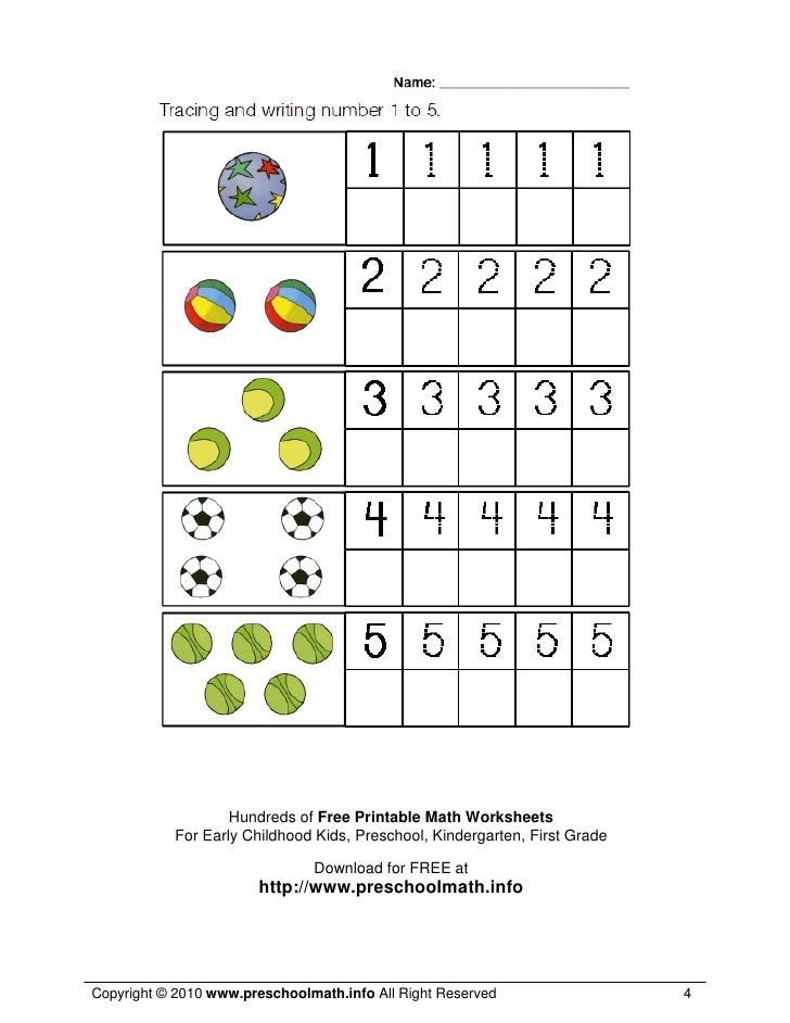 Math Worksheets For Kindergarten And Preschool   Hundreds Of Free Printable Math Worksheets