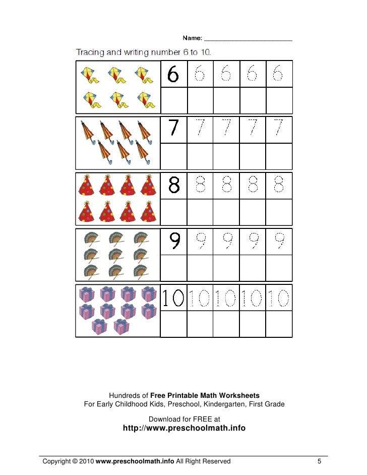 ... 5. Hundreds of Free Printable Math Worksheets For Early Childhood Kids ...