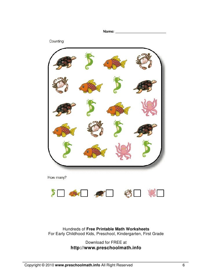 Early Maths Worksheets preschool math worksheets printables – Early Math Worksheets