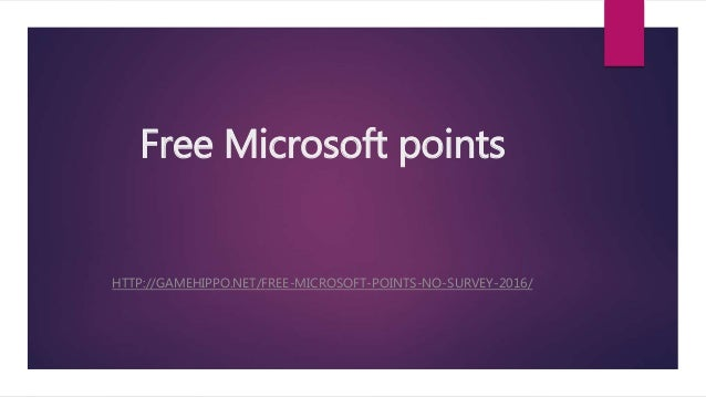 how to get free microsoft points without surveys