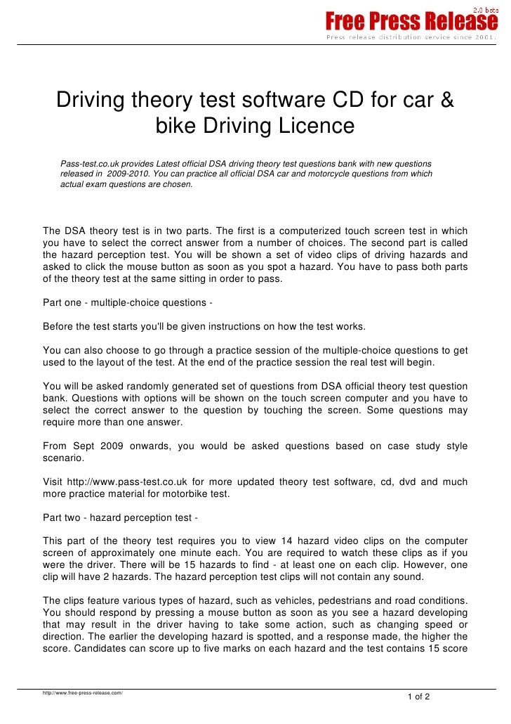 Driving theory test software CD for car &                bike Driving Licence        Pass-test.co.uk provides Latest offic...