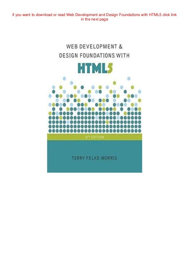 Free Read Web Development And Design Foundations With Html5 Full Pages