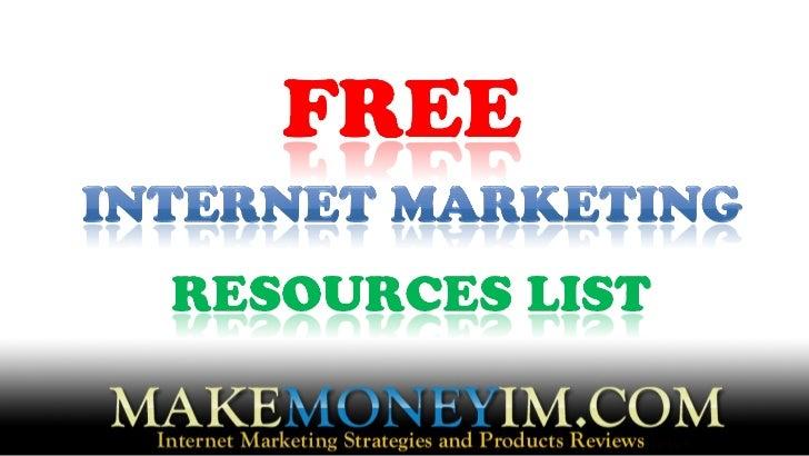 MakeMoneyIM.COM/free-resources-list.html