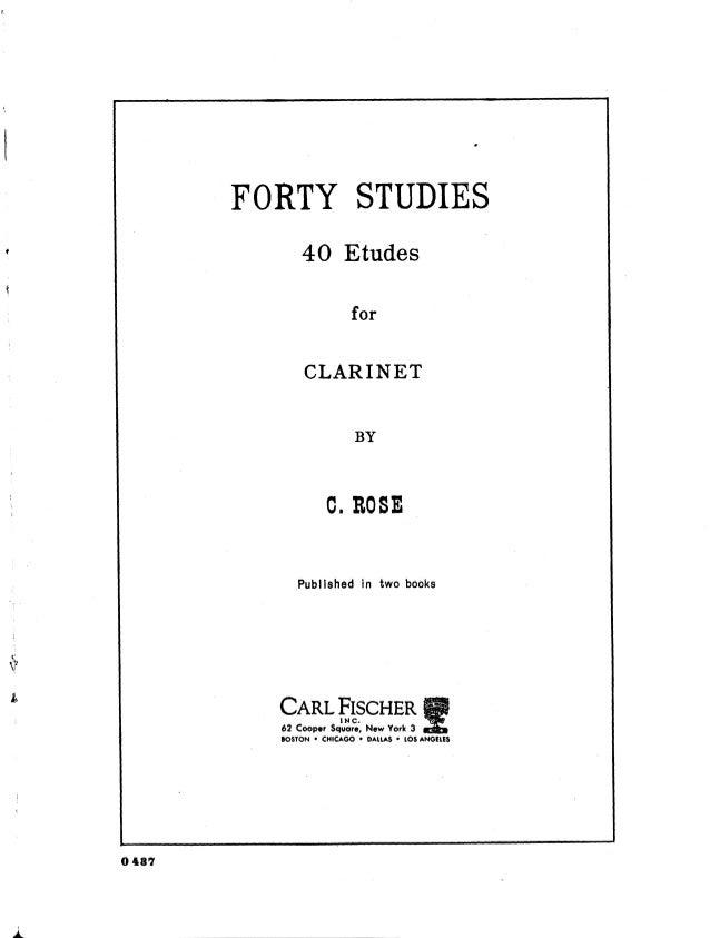 [Free scores.com] rose-cyrille-etudes-pour-clarinette-book-nos-20284