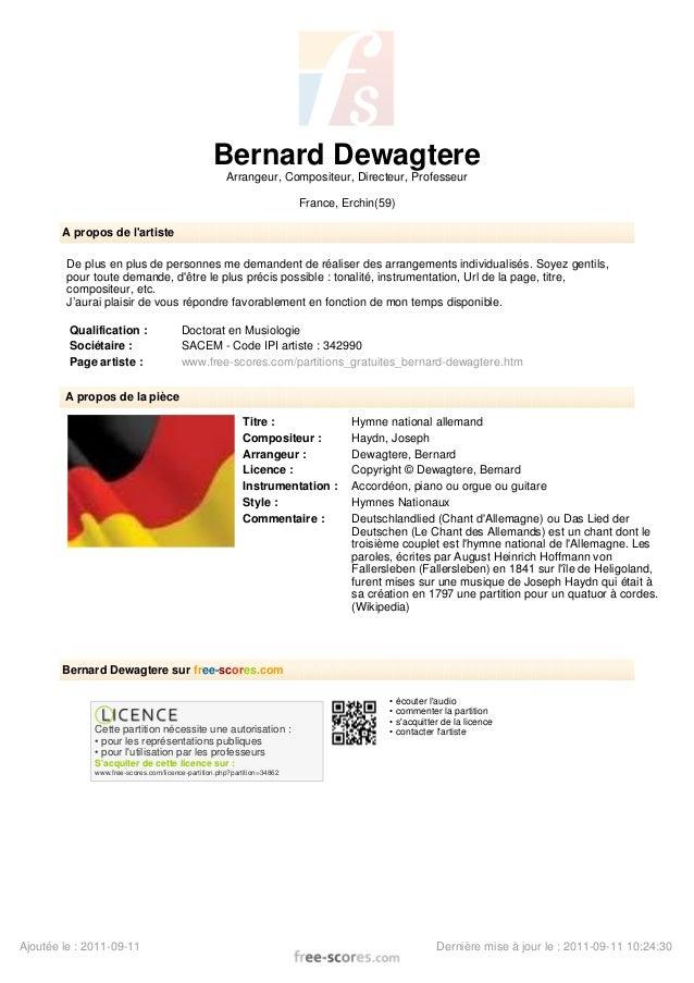 Bernard Dewagtere Arrangeur, Compositeur, Directeur, Professeur France, Erchin(59) A propos de l'artiste De plus en plus d...