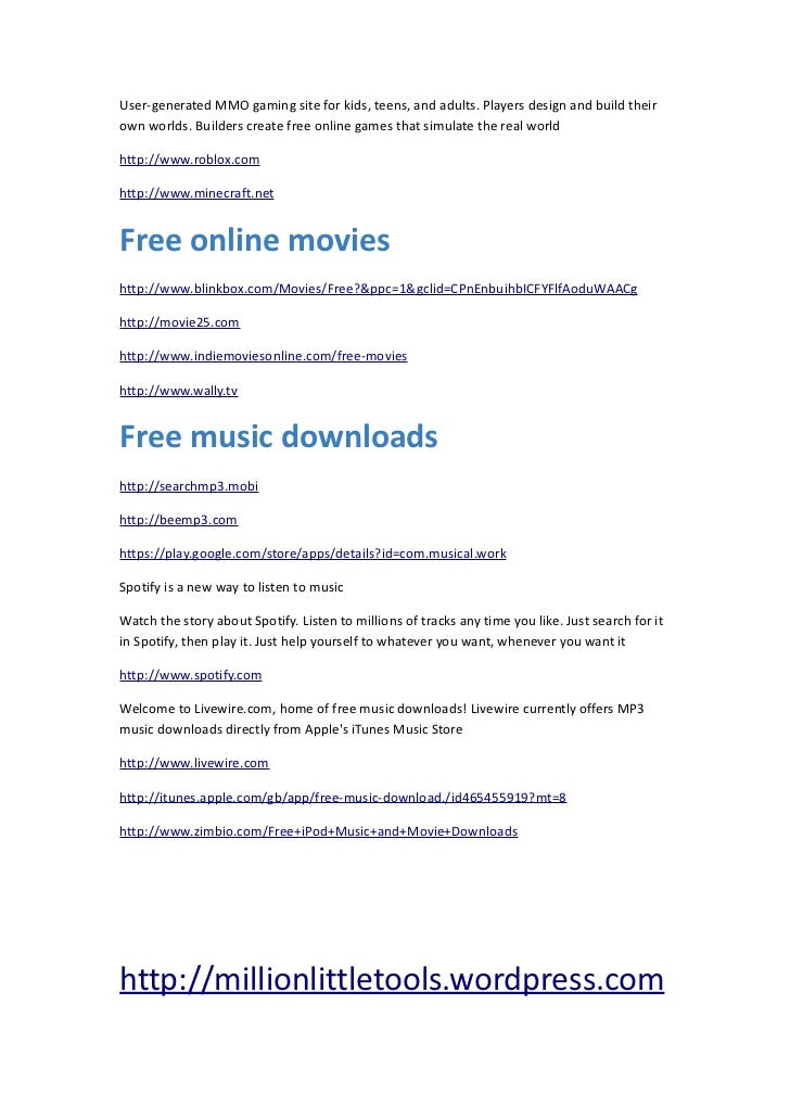 Free Stuff : The Guide