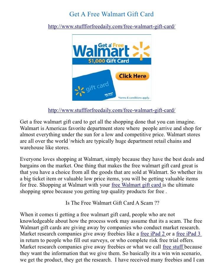Get A Free Walmart Gift Card            http://www.stuffforfreedaily.com/free-walmart-gift-card/            http://www.stu...