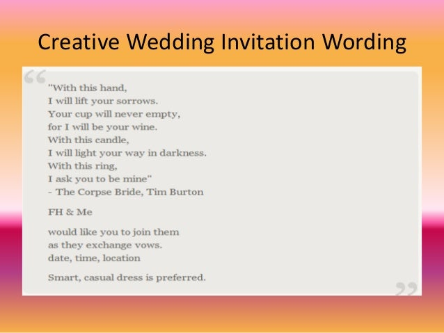 Wedding Invitation In English Wordings: Free Wedding Invitation Wording