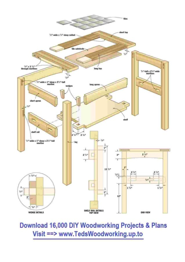 Free wooden side table plans for End table plans free