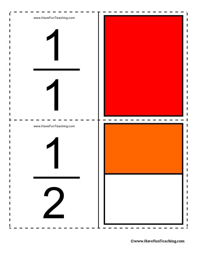 This is a picture of Lively Printable Fraction Cards