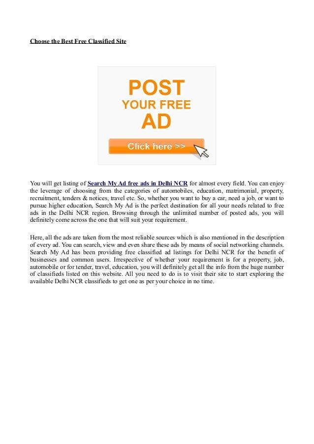 Free Ads in Delhi NCR Slide 2