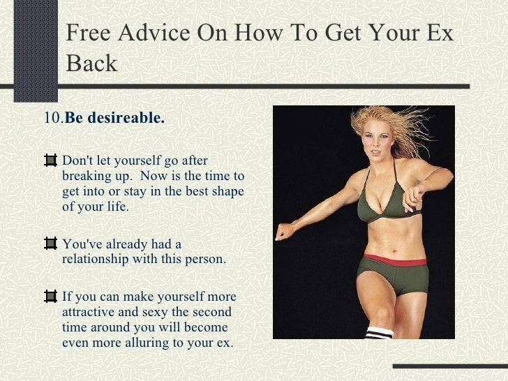 free advice on how to get your ex back