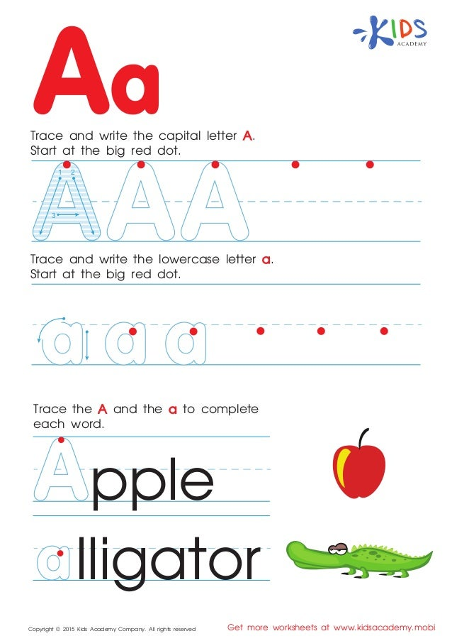 Free alphabet worksheets for kids a-z