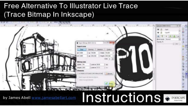 free alternative to illustrator live trace trace bitmap