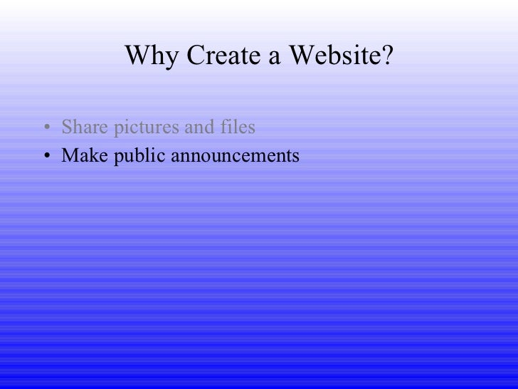 free creation of website