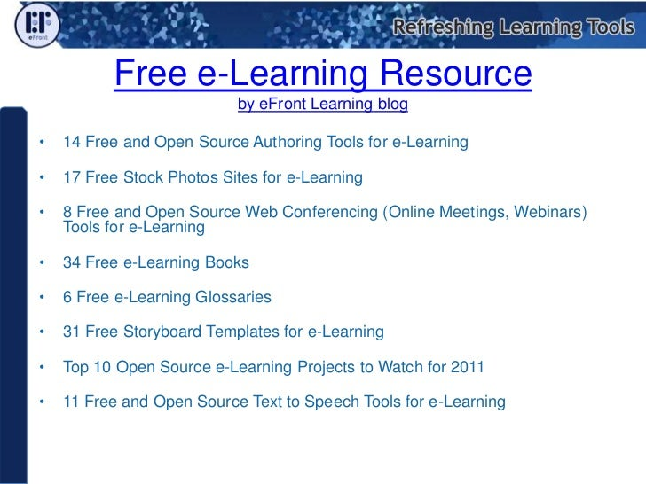Free and Open Source Authoring Tools for e-Learning  Slide 2