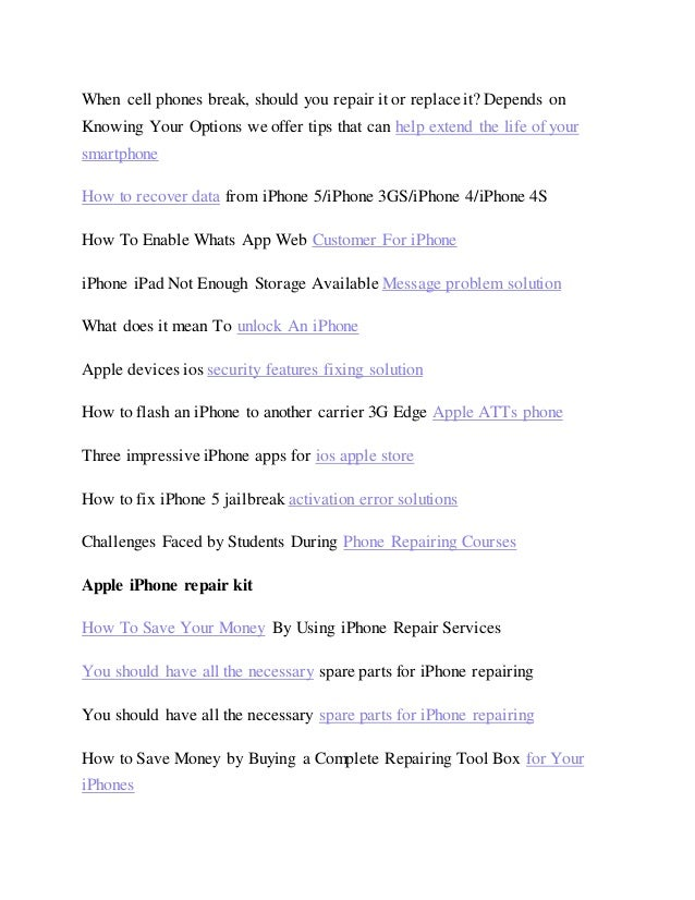 free apple iphone repair manual guide ebook 2018 rh slideshare net iPhone Manual Names Sprint iPhone 4 User Manual