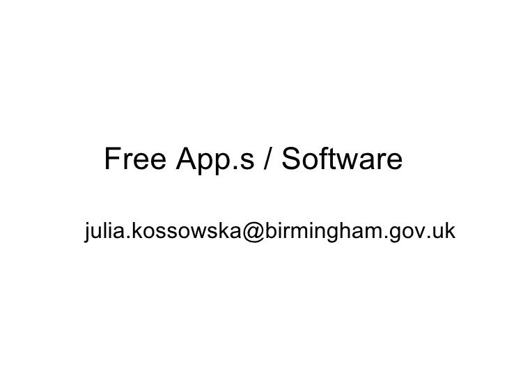 Free App.s / Software [email_address]